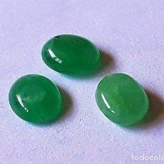 Coleccionismo de gemas: 3 CABUJONES DE ESMERALDA DE 5 X 4 CADA UNO. Lote 133823965