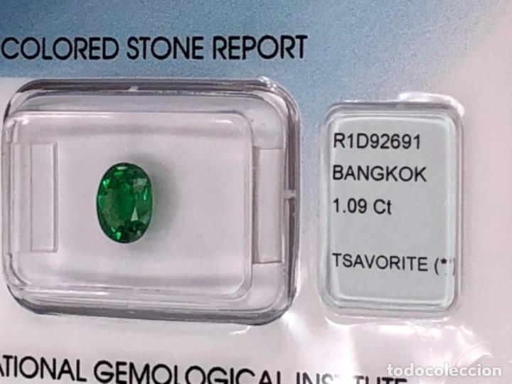 Coleccionismo de gemas: TSAVORITA 1.09 CT - IGI CERTIFICADO Y ENCAPSULADO - Foto 6 - 132695022