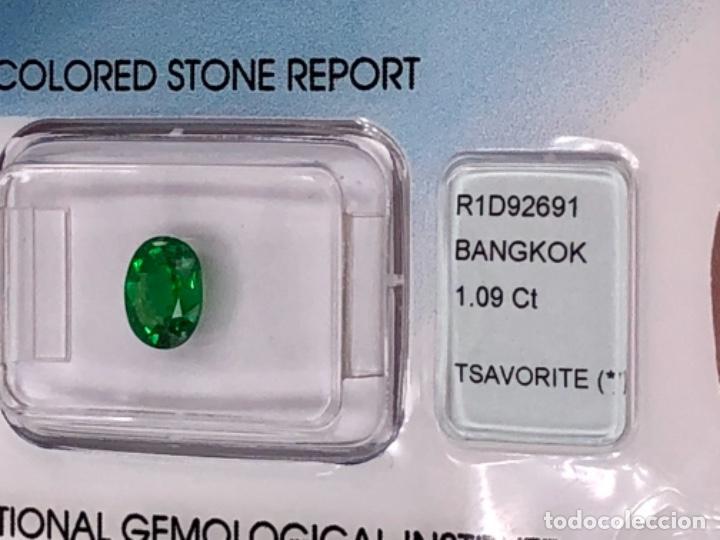 Coleccionismo de gemas: TSAVORITA 1.09 CT - IGI CERTIFICADO Y ENCAPSULADO - Foto 8 - 132695022
