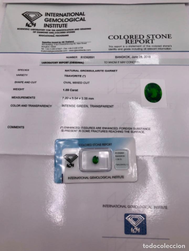 Coleccionismo de gemas: TSAVORITA 1.09 CT - IGI CERTIFICADO Y ENCAPSULADO - Foto 10 - 132695022