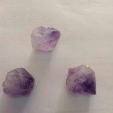 Coleccionismo de gemas: 3 AMATISTAS NATURALES. Lote 134179942