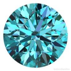 Coleccionismo de gemas: DIAMANTE NATURAL 1.8 MM COLOR AZUL BRILLANTE 100% CERTIFICADO. Lote 136313722