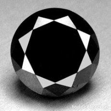 Coleccionismo de gemas: DIAMANTE NATURAL NEGRO BRILLANTE 100% REAL 0.025 CTS. CERTIFICADO CALIDAD AAA SUELTO. Lote 136232858