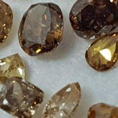 Coleccionismo de gemas: DIAMANTES NATURALES DE COLOR AMARILLO A NARANJA 3,85 CT SIN TRATAR. Lote 138791562