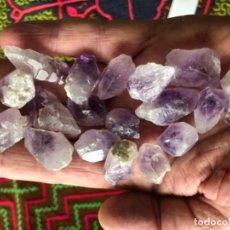 Coleccionismo de gemas: AMATISTA LOTE 18 PIEZAS AFGANISTÁN AMETHYST LOT 18 PIECES. Lote 138799430