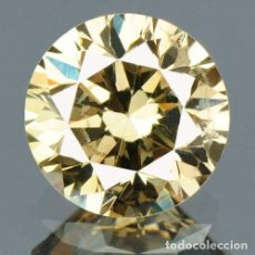 Coleccionismo de gemas: 0.42 CTS DIAMANTE NATURAL COLOR MARRON. EXCELENTE CALIDAD. CERTIFICADO IGR. Lote 139086202