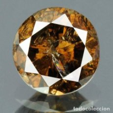 Coleccionismo de gemas: 0,35 CTS DIAMANTE NATURAL COLOR DEEP COFFEE BROWN EXCELENTE CALIDAD. CERTIFICADO. Lote 139182322