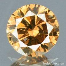 Coleccionismo de gemas: 0,20 CTS DIAMANTE NATURAL COLOR VIVID COGNAC BROW EXCELENTE CALIDAD. CERTIFICADO. Lote 139182574