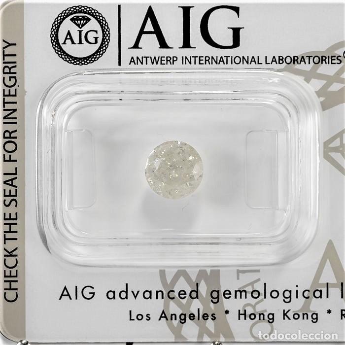 Coleccionismo de gemas: DIAMANTE NATURAL BLANCO 1.25.CT CERTIFICADO AIG COLOR 1 / 13 TALLA BRILLANTE REGISTRADO - Foto 2 - 139875566