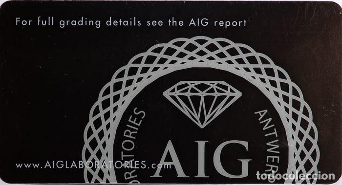 Coleccionismo de gemas: DIAMANTE NATURAL BLANCO 1.25.CT CERTIFICADO AIG COLOR 1 / 13 TALLA BRILLANTE REGISTRADO - Foto 3 - 139875566