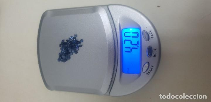 Coleccionismo de gemas: 59 Zafiros naturales azul intenso calibrados de 2,4 mm 5 eu unidad - Foto 2 - 140043322