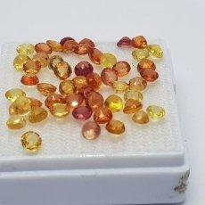 Coleccionismo de gemas: 50 ZAFIROS NATURALES MULTICOLOR, 3 MM PRECIO UNIDAD 4 EU. Lote 140056254