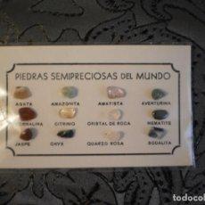 Coleccionismo de gemas: MUESTRA DE PIEDRAS SEMI-PRECIOSAS DEL MUNDO . Lote 140604214
