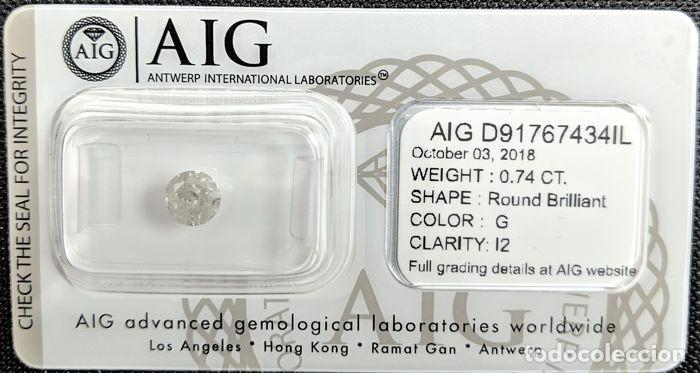 0.81 CTS DIAMANTE NATURAL COLOR BLANCO.COLOR D, CLARIDAD SI3. CERTIFICADO IGL (Coleccionismo - Mineralogía - Gemas)