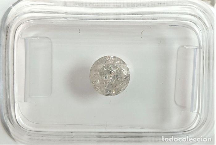 Coleccionismo de gemas: 0.81 CTS DIAMANTE NATURAL COLOR BLANCO.Color D, claridad SI3. CERTIFICADO IGL - Foto 2 - 141535138