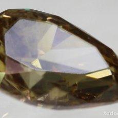 Coleccionismo de gemas: 0.51 CTS DIAMANTE NATURAL FANCY BROWN VS2. CERTIFICADO Y NUMERADO POR LASER. Lote 142664834