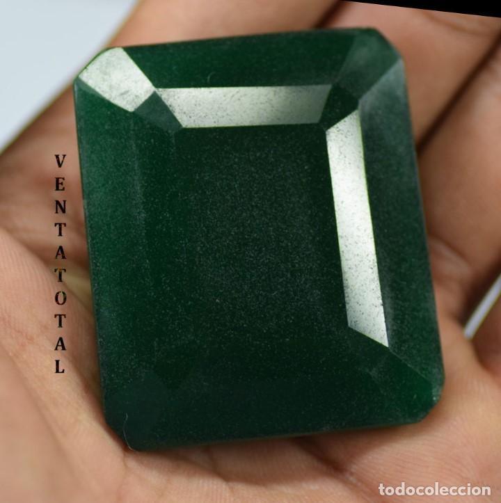 GIGANTE ESMERALDA DE COLOMBIA DE 615 KILATES CON CERTIFICADO KGCL-MEDIDA 6,2 X 4,3 X 2,6 CENTIME-Nº5 (Coleccionismo - Mineralogía - Gemas)