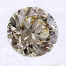 Coleccionismo de gemas: 0.59 CTS DIAMANTE NATURAL FANCY BROWN SI3. Lote 143376626