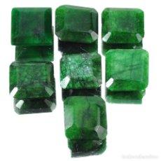Coleccionismo de gemas: LOTE ESMERALDAS NATURALES 127.90.CT - ORIGEN BRASIL + CERTIFICADO KGCL - 15.MM X 15.MM APROX UNIDAD. Lote 143822154
