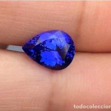 Coleccionismo de gemas: TANZANITA AZUL DE 18X13 MM. TALLA DE PERA DE 12.62 CT. CLARIDAD AAAA+. Lote 143932950