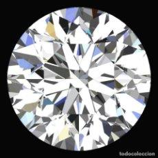 Coleccionismo de gemas: DIAMANTE NATURAL 100% REAL 2.3 MM CERTIFICADO TALLA BRILLANTE BLANCO-F / G COLOR . Lote 143944150