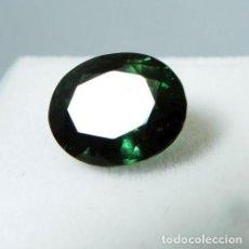 Coleccionismo de gemas: PRECIOSA TURMALINA NATURAL , VERDE TALLA OVAL DE 4.10 CT. CERTIFICADA.. Lote 144160414