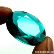 Coleccionismo de gemas: PRECIOSO TOPACIO VERDE HIDROTERMAL CERTIFICADO DE 33.55 CT.. Lote 145198838