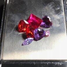 Coleccionismo de gemas: LOTE DE PIEDRAS SINTETICAS. RUBÍ Y ZAFIROS.. Lote 145711366