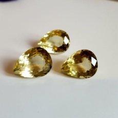 Coleccionismo de gemas: 3 CITRINOS DE 18, 83 CT. Lote 146932814