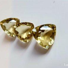 Coleccionismo de gemas: 3 CITRINOS DE 16, 93 CT. Lote 146933078