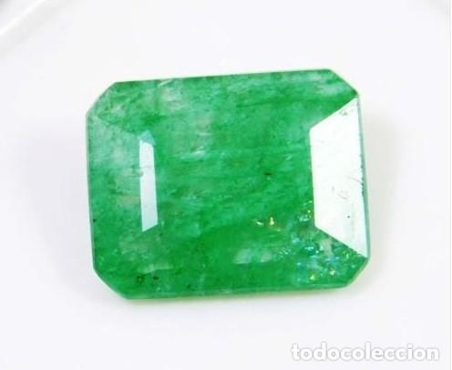 ESPECTACULAR ESMERALDA NATURAL DE COLOMBIA IRIDISCENTE DE 6.10 CT MUY CLARA Y UNIFORME.100% NATURAL (Coleccionismo - Mineralogía - Gemas)