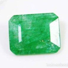 Coleccionismo de gemas: ESPECTACULAR ESMERALDA NATURAL DE COLOMBIA IRIDISCENTE DE 6.10 CT MUY CLARA Y UNIFORME.100% NATURAL. Lote 147067770