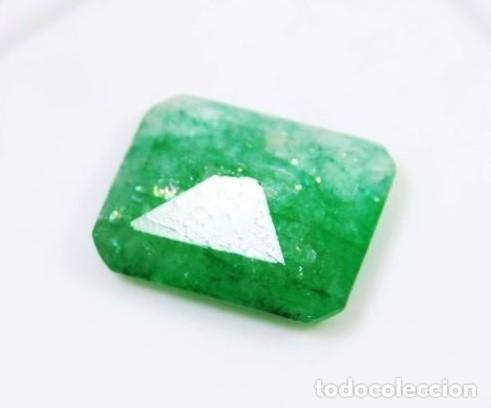 Coleccionismo de gemas: Espectacular Esmeralda Natural de Colombia Iridiscente de 6.10 Ct muy clara y uniforme.100% Natural - Foto 2 - 147067770
