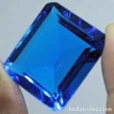 Coleccionismo de gemas: GRAN TOPACIO AZUL DE 22.5 CT. DEL TIPO LONDRES.. Lote 155871313