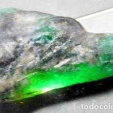 Coleccionismo de gemas: GRAN ESMERALDA NATURAL EN ROCA DE COLOMBIA DE 21.55 CT.. Lote 148172122