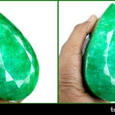 Coleccionismo de gemas: ESMERALDA DE MUSEO DE 4.030 KILATES CON CERTIFICADO KGCL-MEDIDA 12,3 X 7,7 X 6,5 CENTIME-Nº1. Lote 150279602