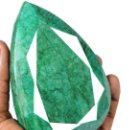 Coleccionismo de gemas: ESMERALDA DE MUSEO DE 2.880 KILATES CON CERTIFICADO KGCL-MEDIDA 11,2 X 7,7 X 4,7 CENTIME-Nº7. Lote 150283454