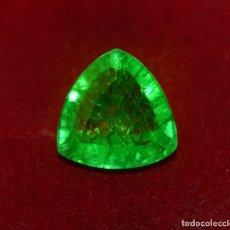 Coleccionismo de gemas: ESMERALDA NATURAL 5.70.CTS + CERTIFICADO GGL - 11.90.MM X 11.66.MM X 6.54.MM - ZAMBIA. Lote 151435993