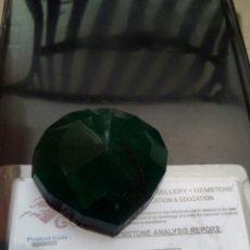 Coleccionismo de gemas: ESMERALDA NATURAL DE 377CTS. CON CERTIFICADO DE AUTENTICIDAD GGL. Lote 151437152