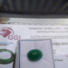 Coleccionismo de gemas: ESMERALDA NATURAL DE 4,10CTS CON CERTIFICADO DE AUTENTICIDAD GGL. Lote 151437976