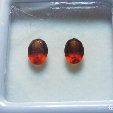 Coleccionismo de gemas: 1,30 CT LOTE PAREJA DE GRANATES NATURALES HESSONITE. Lote 151454570