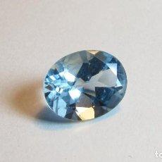Coleccionismo de gemas: 6,10 CT TOPACIO AZUL NATURAL TALLA OVAL. Lote 151454850
