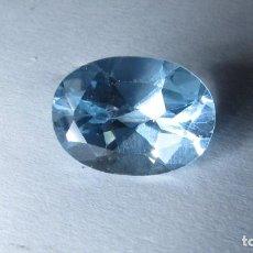Coleccionismo de gemas: 7,35 CT TOPACIO NATURAL AZUL TALLA ESMERALDA. Lote 151454942