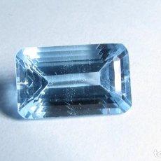 Coleccionismo de gemas: 8,15 CT TOPACIO NATURAL AZUL TALLA ESMERALDA. Lote 151455046