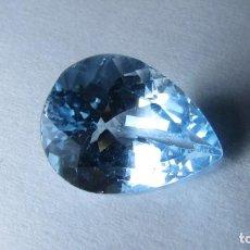 Coleccionismo de gemas: 8,15 CT TOPACIO NATURAL AZUL TALLA ESMERALDA. Lote 151455074