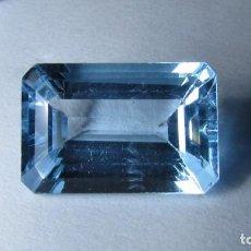 Coleccionismo de gemas: 10,65 CT TOPACIO NATURAL AZUL TALLA ESMERALDA. Lote 151455134