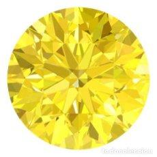 Coleccionismo de gemas: DIAMANTE NATURAL 1.9 MM COLOR AMARILLO BRILLANTE CERTIFICADO OCASION. Lote 151463498