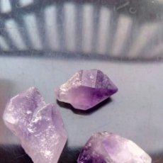 Coleccionismo de gemas: LOTE DE 3 AMATISTAS NATURALES EN BRUTO DE 69CT.. Lote 151630556