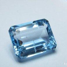 Coleccionismo de gemas: 8,85 CT TOPACIO NATURAL AZUL TALLA EMERALDA. Lote 151890670