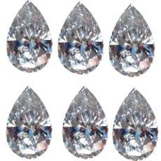 Coleccionismo de gemas: 9 DIAMANTES MOISSANITE DE 1,94 QUILATES, CLARIDAD VVS1, COLOR BLANCO H-I-J TALLA PERA. Lote 152934298
